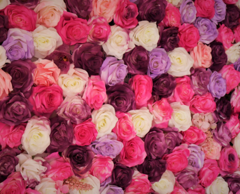 Wedding Selfie Rose Wall